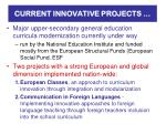 current innovative projects
