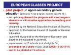 european classes project