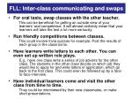 fll inter class communicating and swaps