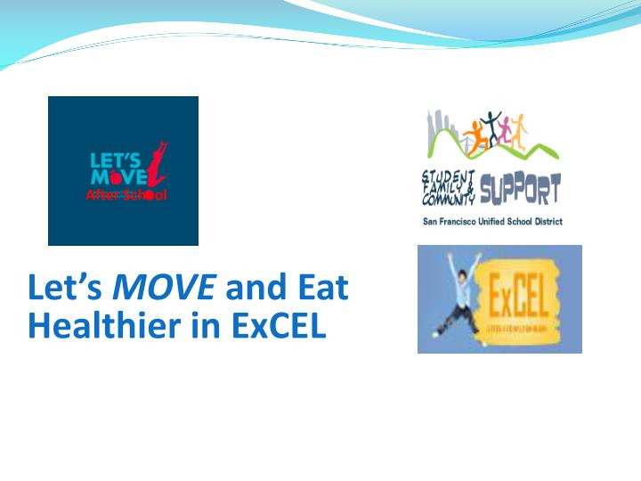 let s move and eat healthier in excel n.