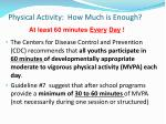 physical activity how much is enough
