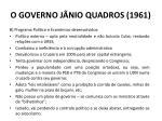 o governo j nio quadros 19612
