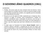 o governo j nio quadros 19613