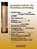 undeniable truth 2 the the reforms are working
