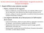 b une science construite par s dimentation les grands courants de l analyse sociologique