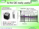 is the qe really useful