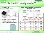 is the qe really useful1