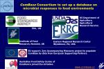 combase consortium to set up a database on microbial responses to food environments