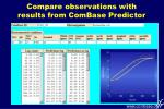 compare observations with results from combase predictor