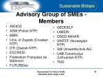 advisory group of smes members