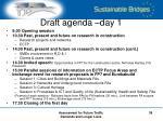 draft agenda day 1