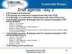 draft agenda day 2