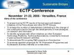 ectp conference november 21 22 2006 versailles france