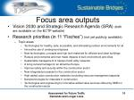 focus area outputs