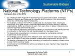national technology platforms ntps