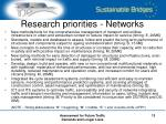 research priorities networks