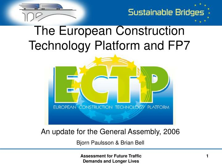 the european construction technology platform and fp7 n.