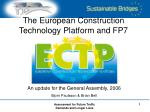 the european construction technology platform and fp7