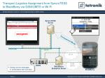 transport logistics assignment from syncrotess to blackberry via gsm umts or wi fi