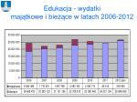 edukacja wydatki maj tkowe i bie ce w latach 2006 2012