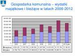 gospodarka komunalna wydatki maj tkowe i bie ce w latach 2006 2012