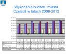 wykonanie bud etu miasta czelad w latach 2006 2012