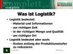 was ist logistik