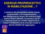 esercizi propriocettivi in riabilitazione