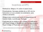 incentivos al dpc