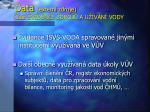 data extern zdroje st evidence zdroj a u v n vody