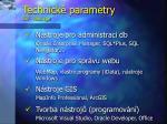 technick parametry sw n stroje