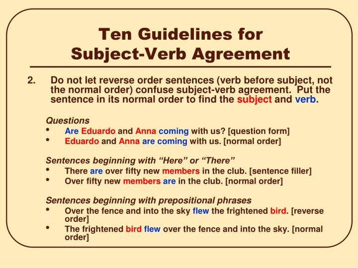 Ppt Subject Verb Agreement Powerpoint Presentation Id6972894