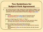 ten guidelines for subject verb agreement1