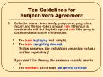 ten guidelines for subject verb agreement5