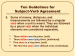 ten guidelines for subject verb agreement7