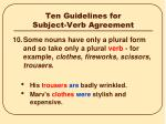ten guidelines for subject verb agreement9