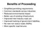benefits of proceeding
