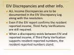 eiv discrepancies and other info