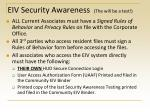 eiv security awareness the will be a test