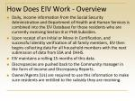 how does eiv work overview