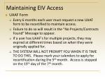 maintaining eiv access3