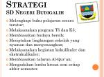 strategi sd negeri budigalih