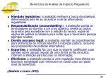 benef cios da an lise de impacto regulat rio