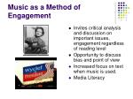 music as a method of engagement