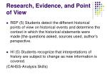 research evidence and point of view