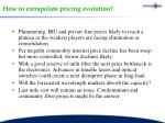how to extrapolate pricing evolution