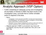 analytic approach vsp option