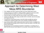 approach for determining west mesa mrs boundaries