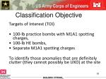 classification objective