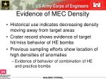 evidence of mec density